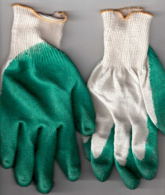 Рабочие перчатки х/б с одинарным латексным обливом