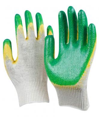 Рабочие перчатки х/б с двойным обливом